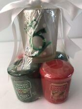 Yankee Candle 3Votives Balsam/&Cedar Christmas Cookie Spkling Cinnamon Snwman Top