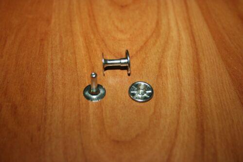 Accessoire Maroquinerie 10 Rivets Doubles Boutons Pression Acier Nickelé