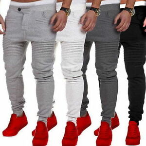 Mens-Slim-Fit-Tracksuit-Bottoms-Skinny-Jogging-Joggers-Gym-Sweat-Pants-Trousers