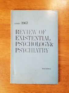 Details about 1967 REVIEW OF EXISTENTIAL PSYCHOLOGY & PSYCHIATRY