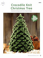 Christmas Tree Crocodile Knit By Annies Attic Adorable Table Top Holiday Pattern