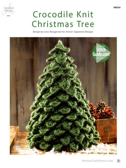 Crocodile Knit Christmas Tree By Annies Attic Adorable Table Top