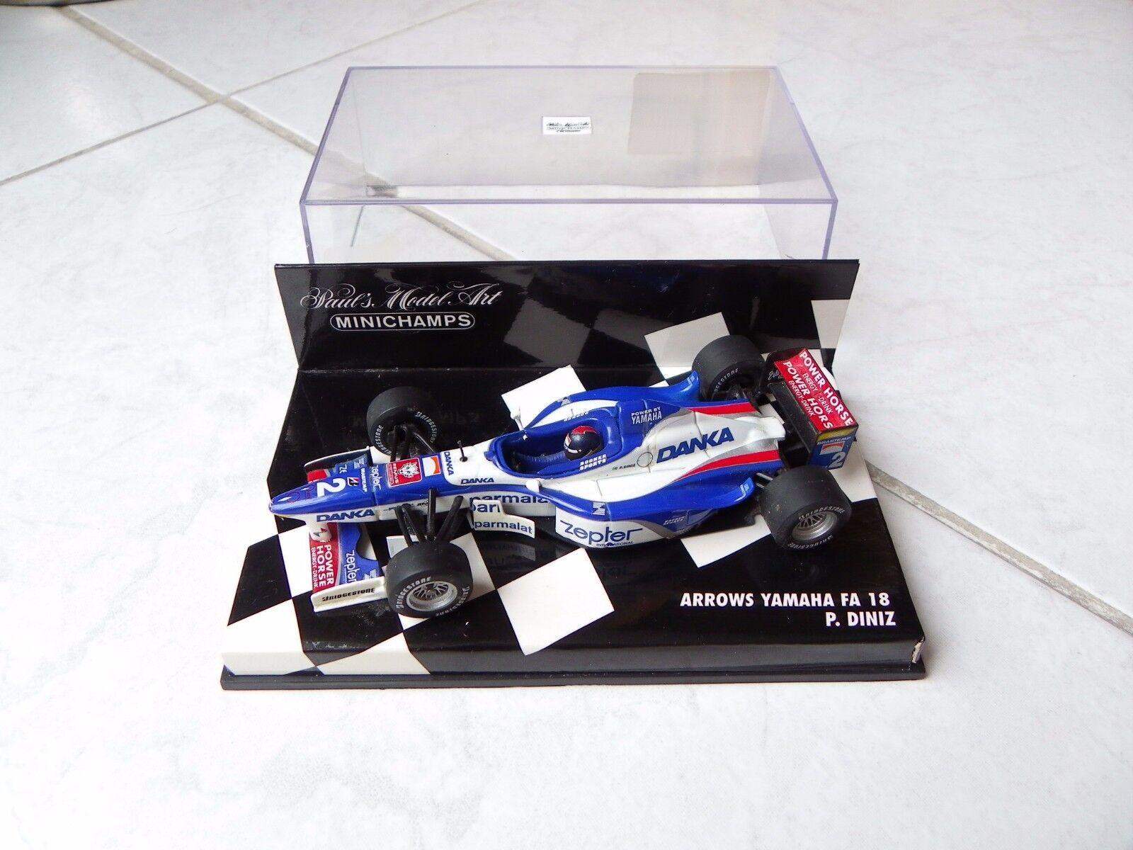 Arrows Yamaha FA18 Pedro Diniz  2 Minichamps 1 43 1997 F1 Formule 1 RARE