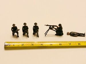 Vintage-Lead-Soldier-Lot-of-5