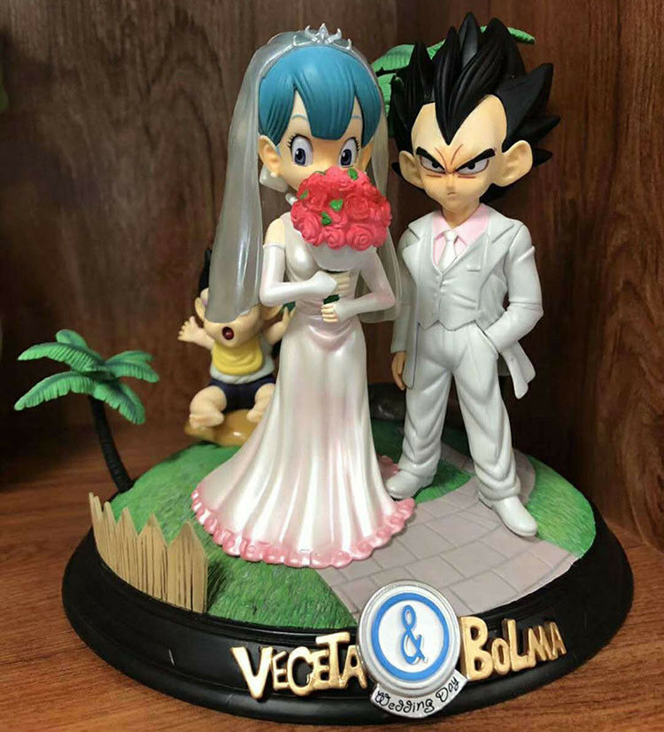Dragon Ball Vegeta and Bulma wedding PVC figure figures doll gift toy anime hot
