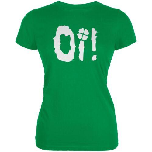 Oi Shamrock Irish Green Juniors Soft T-Shirt