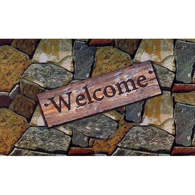 Welcome Mat Front Door Outdoor Rubber