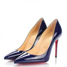 Christian Louboutin Royal Blue Patent Leather Decollete Heels Size 5US/35EU NIB