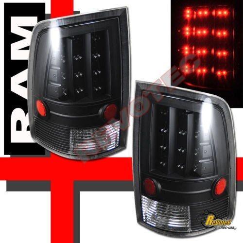 2009-2017 Dodge Ram 1500 10-17 2500 3500 Pickup Black LED Tail Lights 1 Pair
