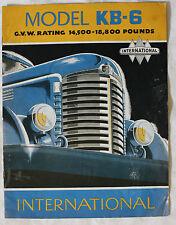 INTERNATIONAL MODEL KB-6 truck brochure sales catalog - CANADIAN Market