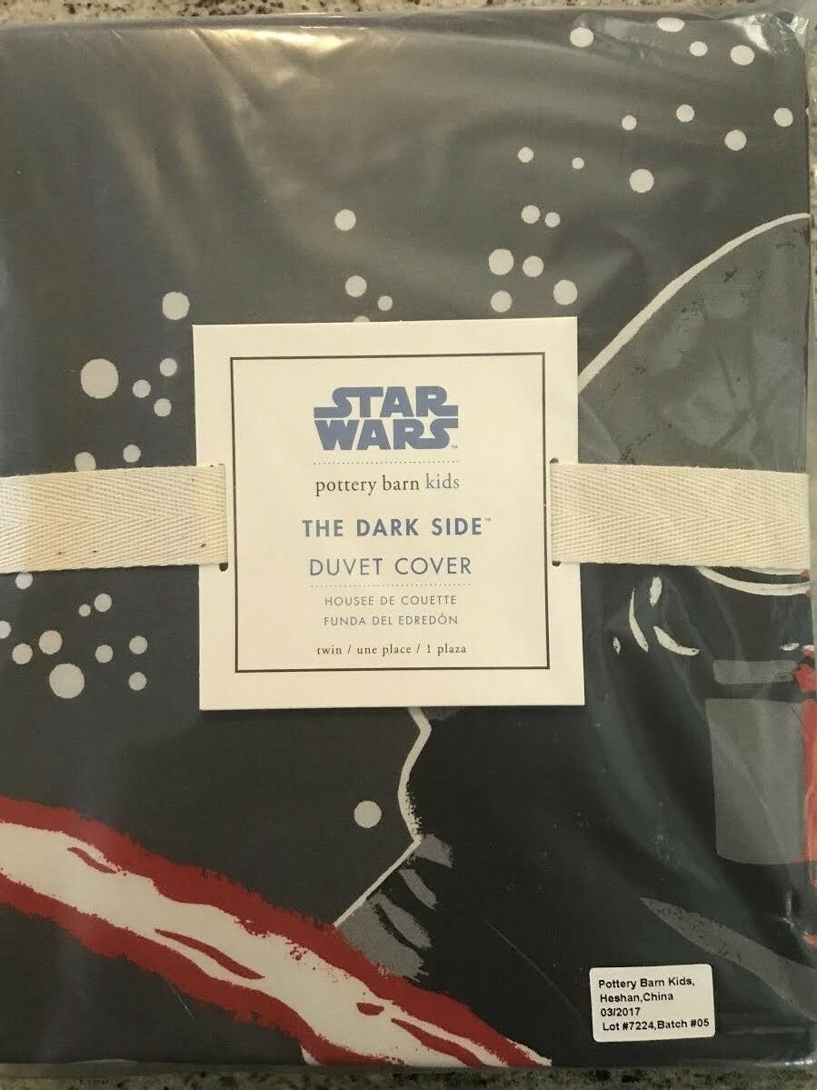 Pottery Barn Kids Dark Side Star Wars Twin Duvet Cover SOLD OUT @PBK