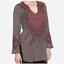 JOHNNY-WAS-Embroidered-BIYA-Tie-Neck-KHALLA-Blouse-Tunic-Gray-Cotton-220-M thumbnail 1