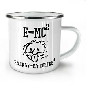 Einstein Coffee NEW Enamel Tea Mug 10 oz | Wellcoda