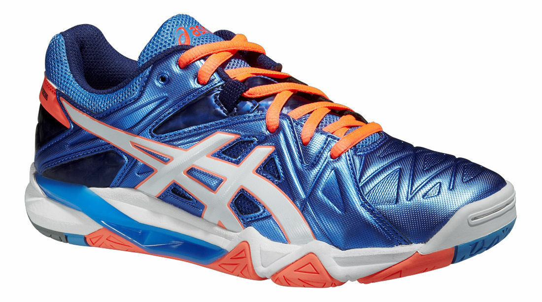 ASICS GEL SENSEI 6 Damenschuhe Powder Blau Flash Coral B552Y 130 NEW