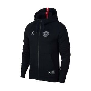 8f574dc48 Nike Air Jordan PSG Wings Full-Zip Hoodie Size XL Black Paris Saint ...