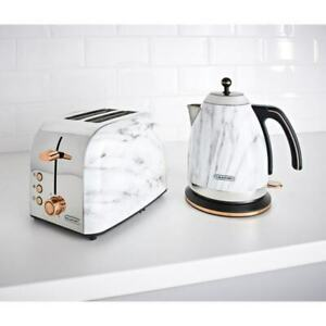 Blaupunkt-Marble-Effect-Kettle-And-Toaster-BREAKFAST-SET-With-Copper-Lining-NEW