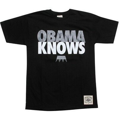 Undrcrwn Obama Knows Men's Black T Shirt 10444whtel Activewear Tops
