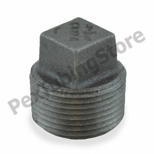 1-034-Black-Malleable-Iron-Plug-Fitting