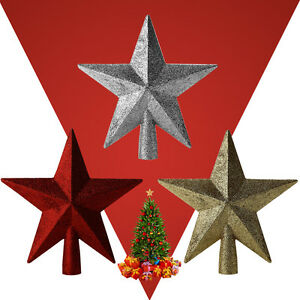 3d gold red silver glitter shiny star christmas tree for 3d star decoration