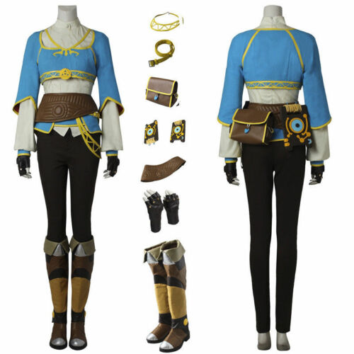 The Legend of Zelda Breath of the Wild Princess Zelda Cosplay Costume Handmade