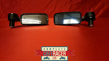 CAFE RACER BLACK RECTANGULAR BAR END FULLY ROTATABLE MIRRORS CNC MACHINED