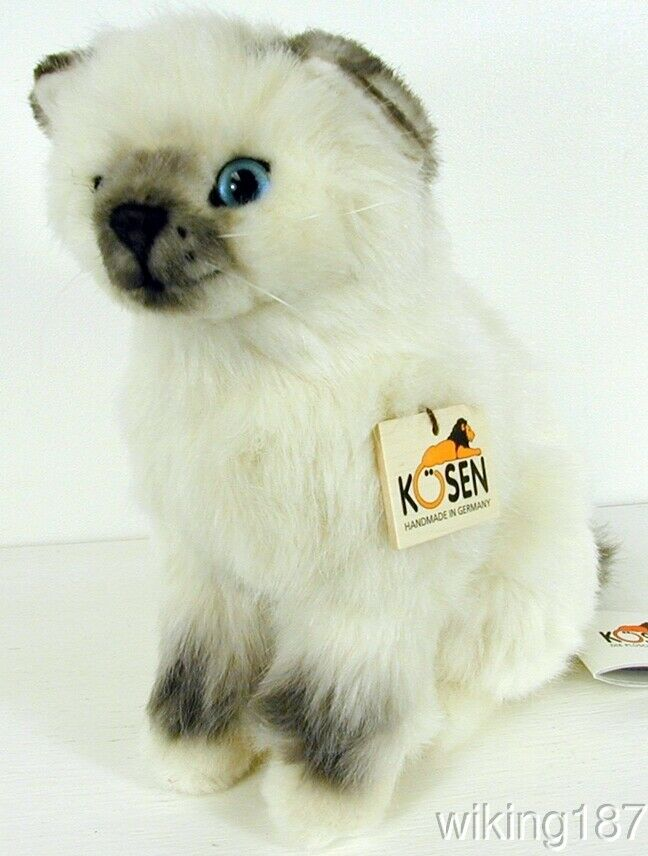 KOSEN Made in Germany NEW Sitting Birman Kitten Plush Cat Toy