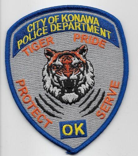 Konawa Police State Oklahoma OK Tiger patch NEAT