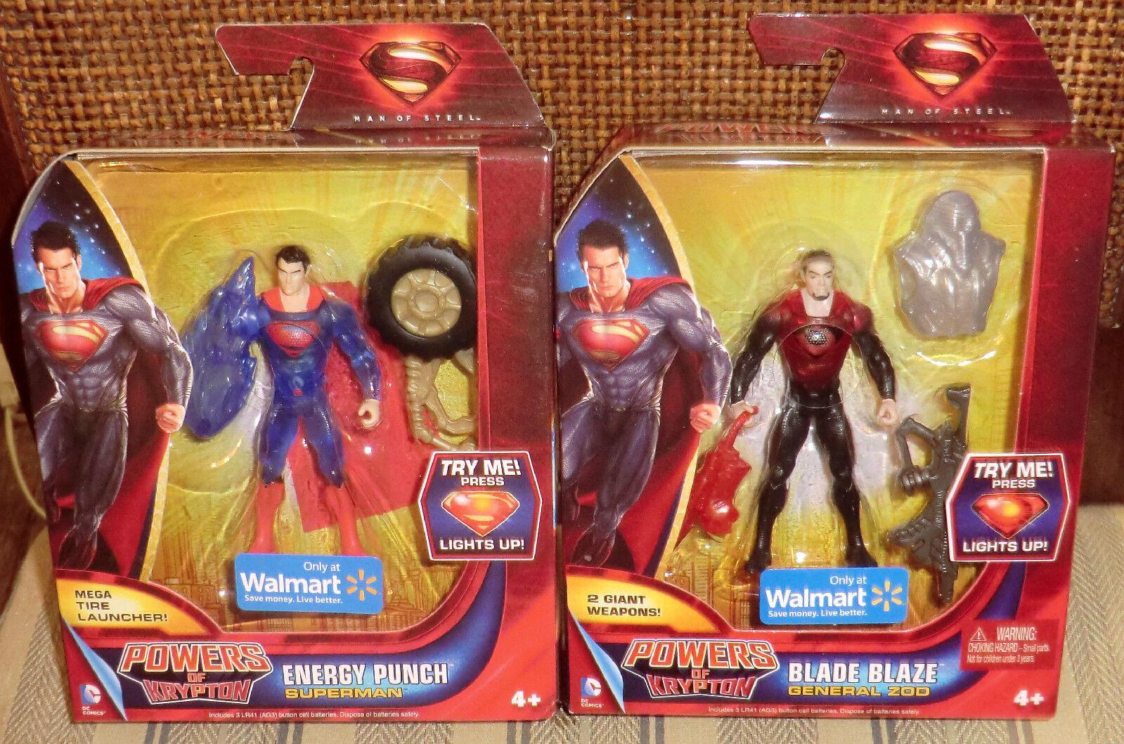 Dc Universe súperman El Hombre De Acero poderes De Krypton producto exclusivo de Walmart Set Mib