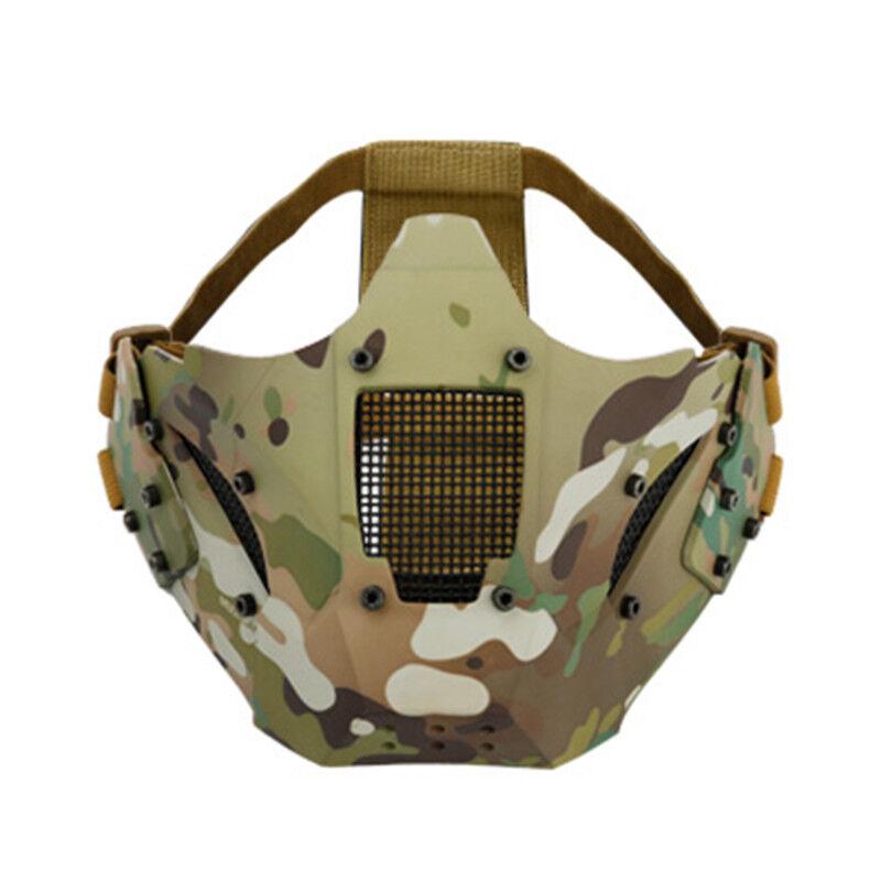 Multi Function Outdoor CS Equipment Tactical Iron Samurai Half Face Mask suitabl