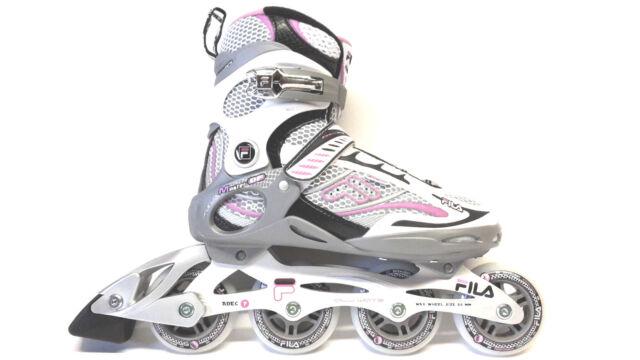 2309125d8c8 Fila Master DF Lady silber lila Freizeit Fitness Inliner Skates Gr. 36 80  Abec 7