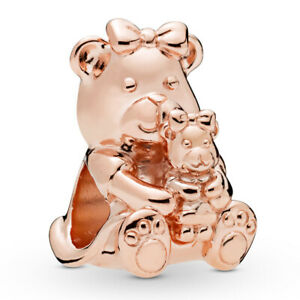 PANDORA-ROSE-Charm-Element-788007-Mother-and-Child-Bear-Baerchen-Bead