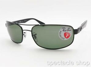 Ray Ban 3445 002/58 61 Black Polarized 100% Authentic