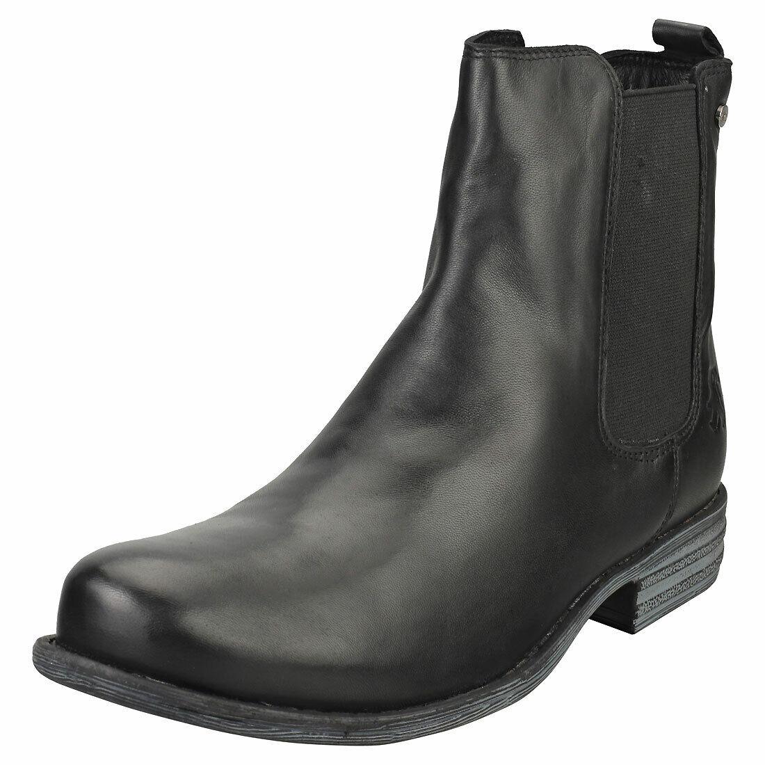 2go low heel señora botas de Black chelsea-UE 37