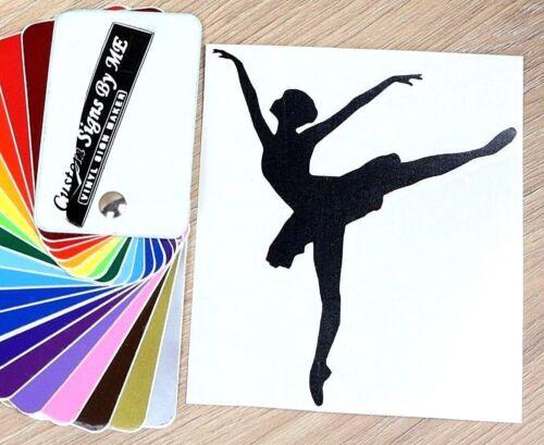 Ballerina Dancing Ballet Sticker Vinyl Decal Adhesive Wall Window Car Bumper Blc