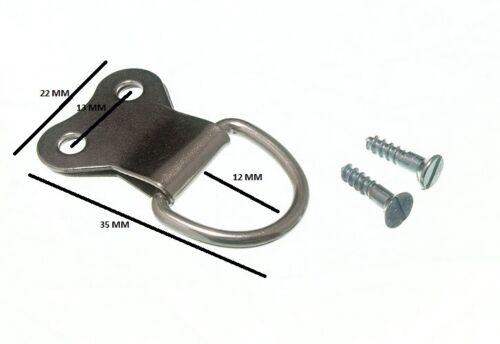 Cadre Photo Suspendu D Ring Doubles Np Nickel Plaqué /& Vis Pack de 100