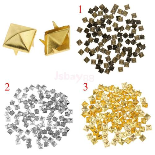 50Pairs Punk Decorative Pyramid Spikes Screw Studs DIY Embellishment Rivet