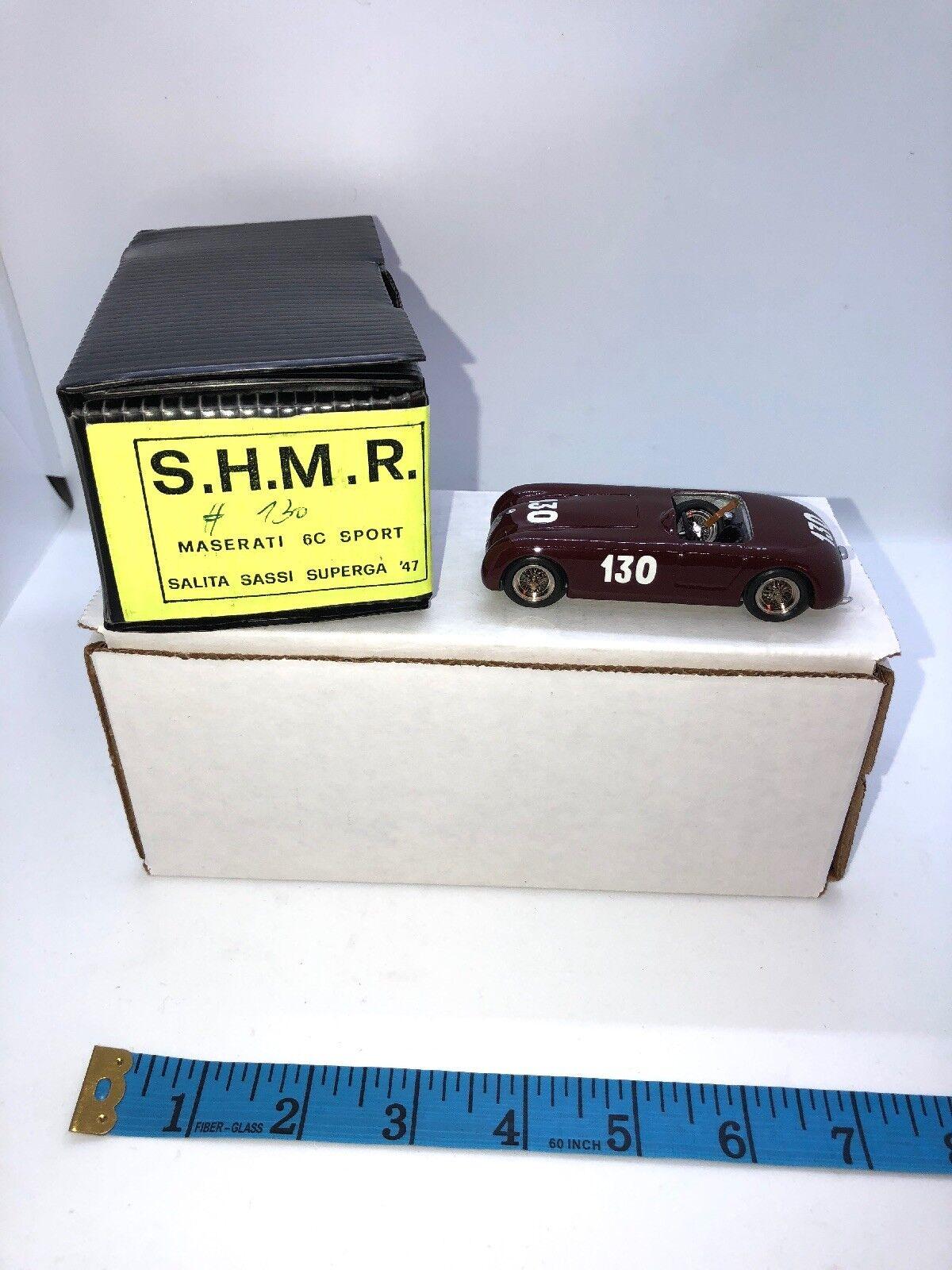 SHMR 1 43 résine Maserati 6 C SPORT 1500 salita Sassi SUPERGA modèle 1947 fait main