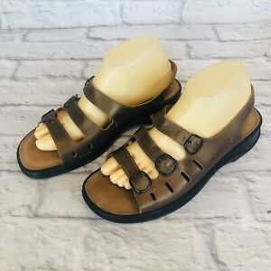 Details about CLARKS SPRINGERS Sunbeat Womens Size 10 M Slingback Sandals 3 Straps Leather 2f8