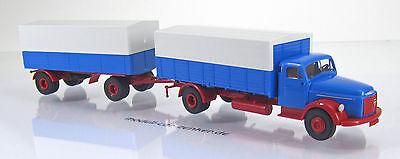 Brekina 85600 Volvo N88 Pritsche Plane LKW blau rot Scale 1 87 NEU OVP