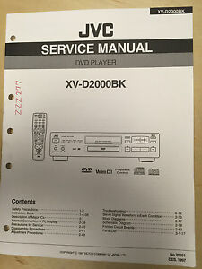 jvc service user manual for the xv d2000bk dvd player mp ebay rh ebay com jvc rx6001r user manual jvc rx6001r user manual
