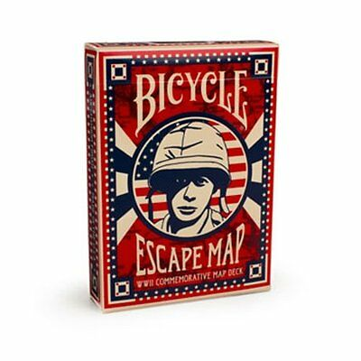 Bicycle® Escape Map Deck Playing Cards Commemorative WW2 WWII US Military New