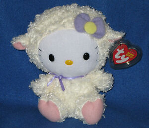 TY HELLO KITTY EASTER LAMB BEANIE BABY - MINT with MINT TAGS