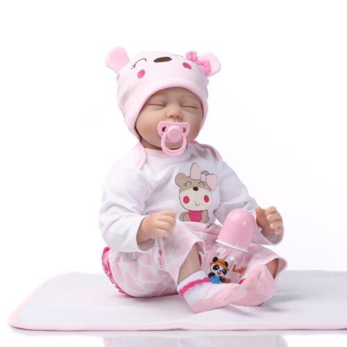 New 22/'/' Handmade Vinyl Silicone Reborn Baby dolls Lifelike Doll Baby Toys 55CM