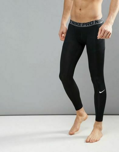 Men/'s Nike Pro Compression Tights Dri Fit Black