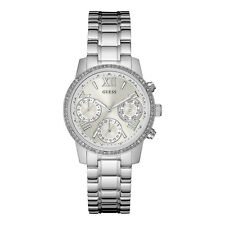 Guess Orologio Donna Watch Woman Uhr Mini Sunrise Acciaio W0623L1 Silver Strass
