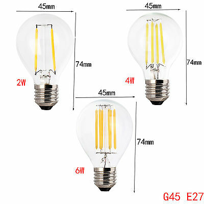 Dimmable B22 E27 E14 2/4/6/8W LED Light Bulb Edison Retro Vintage Filament Lamp