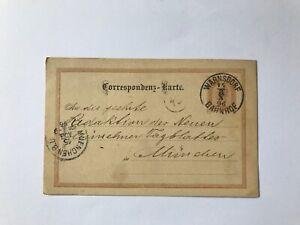 Osterreich-Ganzsache-2-Kreuzer-Warnsdorf-nach-Muenchen-1896