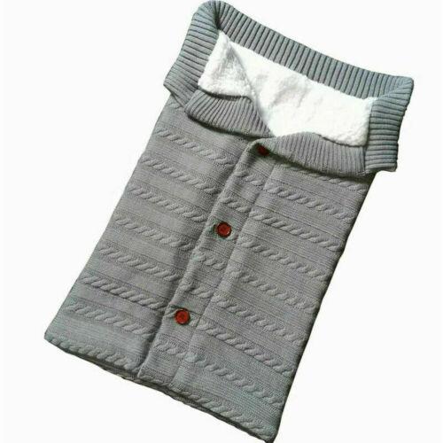 Warmer Schlafsack Winter Baby Säugling Neugeborenen stricken Swaddle Wrap Decke