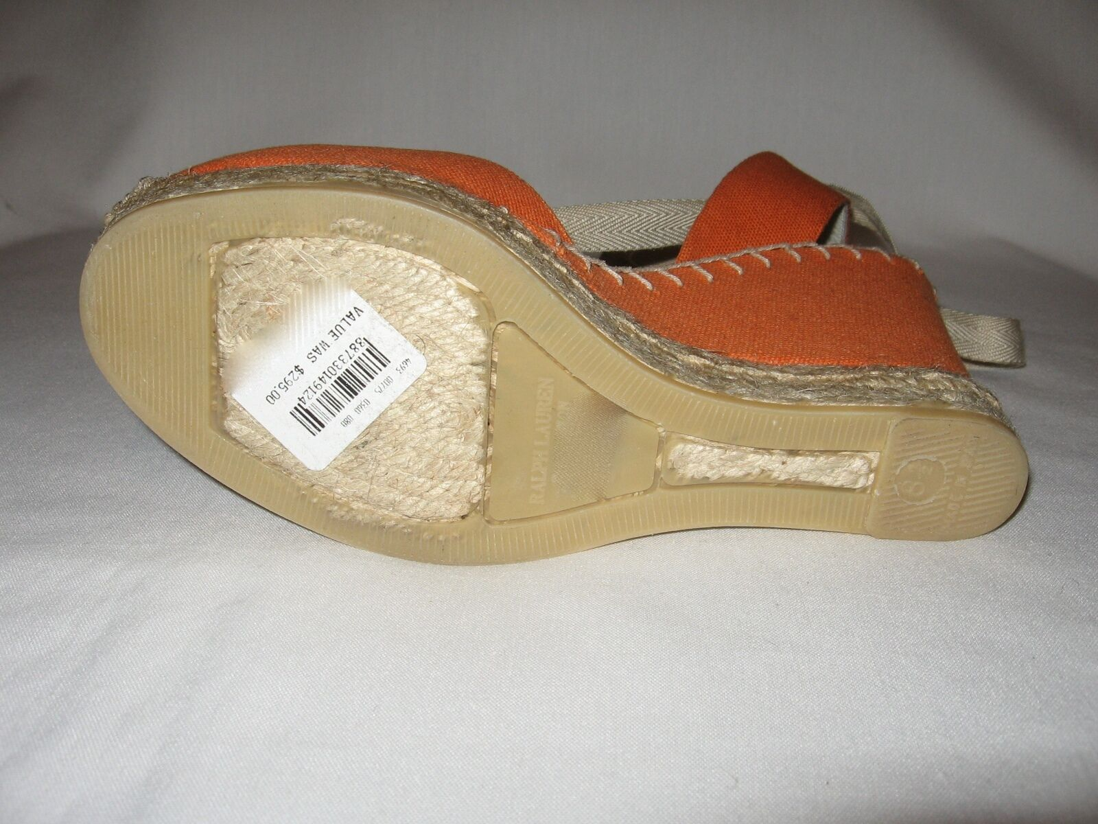 RALPH LAUREN BRAND Retail: NEW (NIB) CANVAS LACE UP SCANDALS Retail: BRAND 295+Tax da1d00