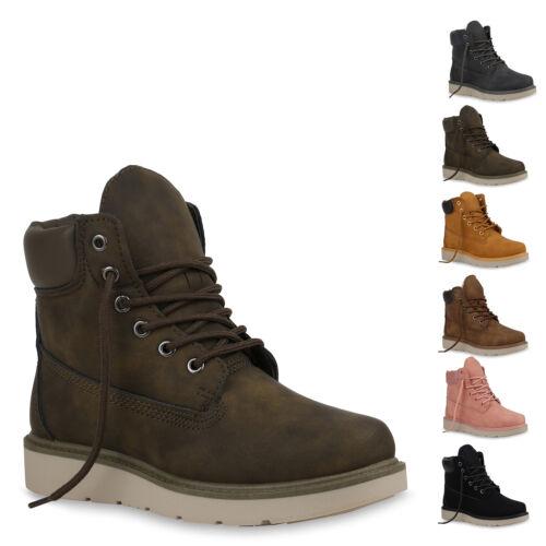 Outdoor Schuhe New 893426 Stiefeletten Boots Worker Damen Look Warm Gefütterte qntUFSA